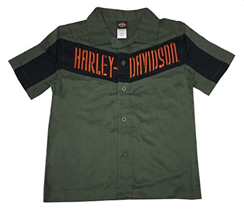 Harley-Davidson Little Boys' Interlock Twill Shop Short Sleeve Shirt 1083519 (7)