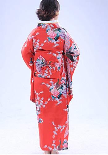 costume Botanmu Vestito vestito di 5 Kimono colori fotografia dal donne del del Rosso di giapponese delle cosplay della PPdwr1