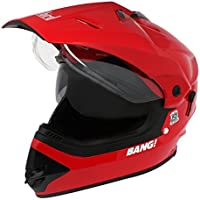 Steelbird SB-42 Bang Motocross Cherry Red with Double Visor,600mm