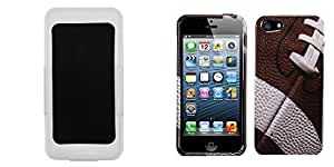Combo pack MYBAT White Holster (Style 2) for APPLE iPhone 5 And MYBAT Football-Sports Collection Phone Protector Cover for APPLE iPhone 5
