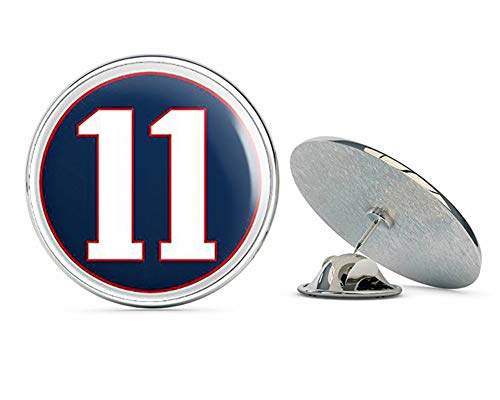 (NYC Jewelers Round #11 Julian Edelman (New England Patriots Number 11) Metal 0.75