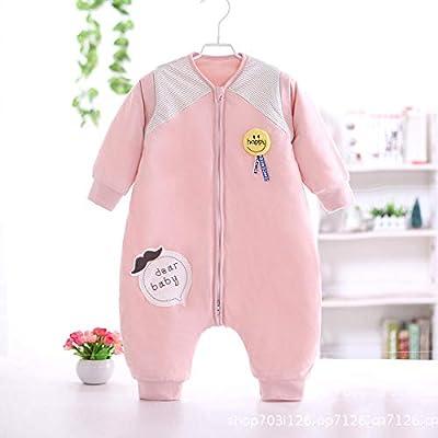 WTFYSYN Saco de Dormir bebé para Invierno y Verano,Saco de Dormir de algodón con Pierna Dividida para bebés, Espuma de Memoria Suave, Pijama de una Pieza anti-patada-98CM_E: Amazon.es: Hogar