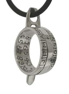 Reloj solar-colgante campesinos anillo 925 de plata incluye 3 mm Correa de piel