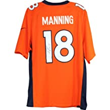 NFL Denver Broncos Peyton Manning Signed Authentic Orange Nike Jersey
