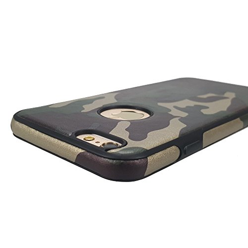 "Apple iPhone 6/6S 4,7"" Handy Tasche TPU Case Flexi Camouflage Schutz Hülle Cover Tarn Muster"