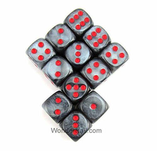 専門店では WCX27878E12 Black Velvet Dice Pips with B00VWWPTJW Red Pips D6 Dice 12mm (1/2in) Chessex B00VWWPTJW, さがけん:27d16e3d --- egreensolutions.ca
