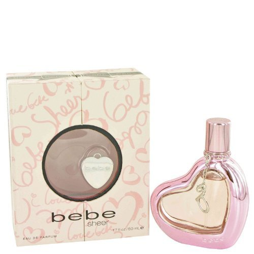 Sheer by Bebe for Women, Eau de Parfum Spray, 1.7 Ounce (Peony Perfume Sheer)