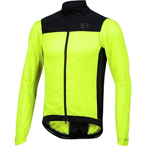Pearl iZUMi Pro Barrier Lite Jacket, Screaming Yellow, X-Large (Cycling Jacket Lite)