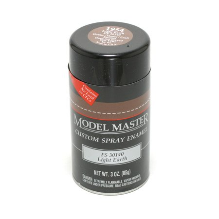 TES1954 Light Earth Testors Model Master Enamel Spray Paint 3 oz can ()