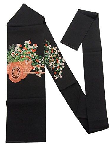 スプーン中庭端末リサイクル 名古屋帯 塩瀬 花車の菊の花 正絹