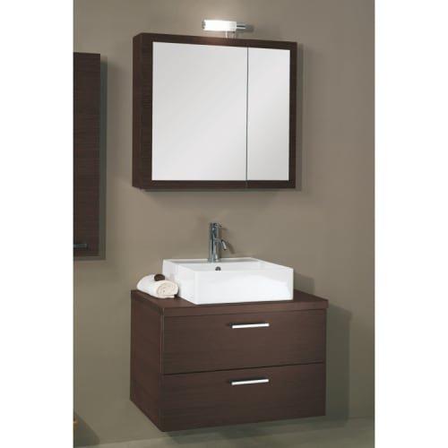 Iotti A18-Wenge-637509907006 Aurora Collection Bathroom Vanity, Wenge