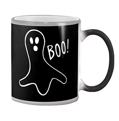 Halloween Boo-Yah Funny Ghost Halloween Gift Color Changing Mug]()