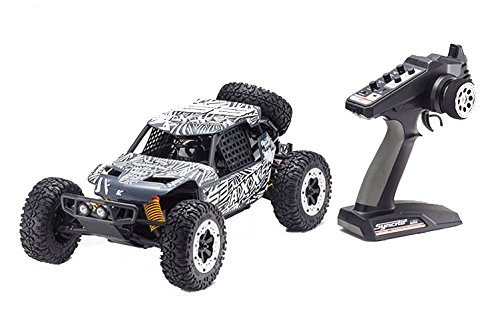 Battery Kyosho (Kyosho AXXE Electric Desert/Off-Road RC Buggy (1:10 Scale), Grey)