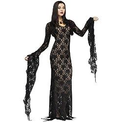 Fun World Women's Miss Darkness Costume, Black, Medium