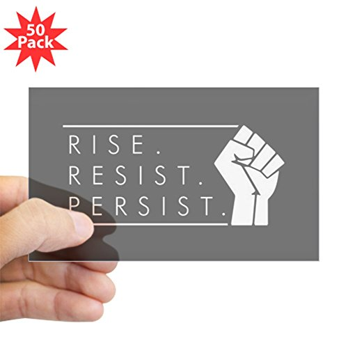 CafePress - Rise. Resist. Persist. - Sticker (Rectangle 50 pk) by CafePress