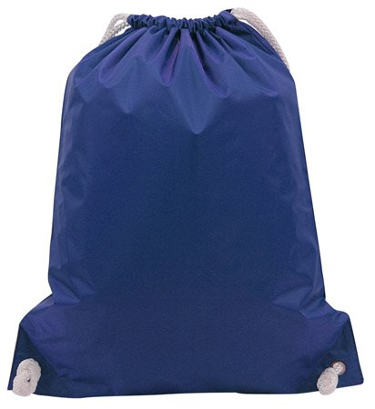 WHITE DRAWSTRING BACKPACK, Royal, Case of 48 by DollarItemDirect