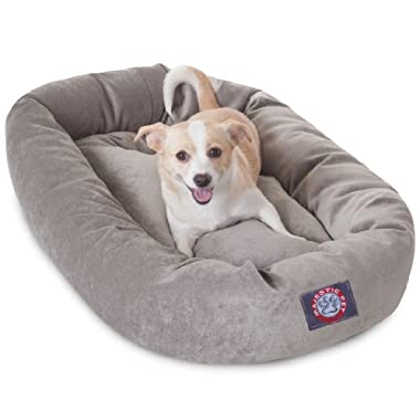 32 inch Vintage Villa Collection Micro Velvet Bagel Dog Bed By Majestic Pet Products