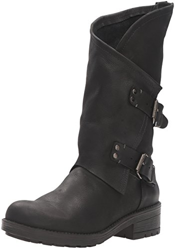 Coolway Women's Alida Motorcycle Boot, Black, 39 EU/8-8.5 M US