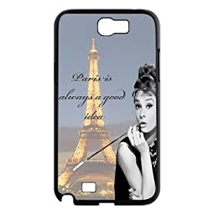 Audrey Hepburn Quotes Use Your Own Image Phone Case for Samsung Galaxy Note 2 N7100,customized case cover ygtg-781385