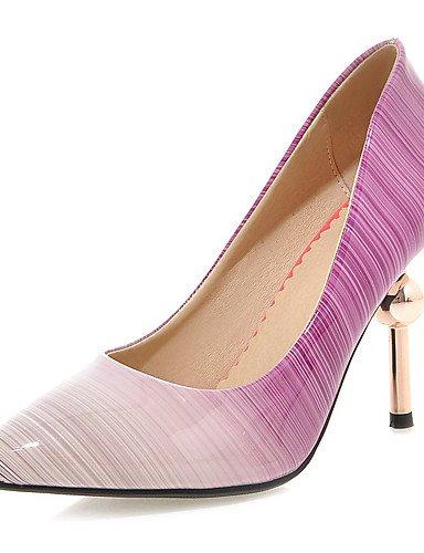 ZQ Zapatos de mujer-Tac¨®n Stiletto-Tacones / Puntiagudos-Tacones-Vestido / Fiesta y Noche-Semicuero-Negro / Morado / Melocot¨®n , purple-us11 / eu43 / uk9 / cn44 , purple-us11 / eu43 / uk9 / cn44 purple-us5 / eu35 / uk3 / cn34