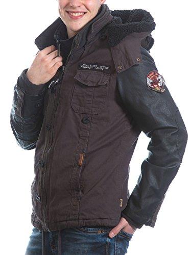 Khujo Herren Jacke mit inner Jacket charcoal Herbst Winter