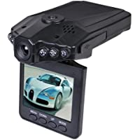 Xtreme XDC6-1002-BLK 1280x960 HD Dash Cam w/Night Vision, Flip Down 2.4 LCD & Windshield Mount (Records to SD/MMC Card)
