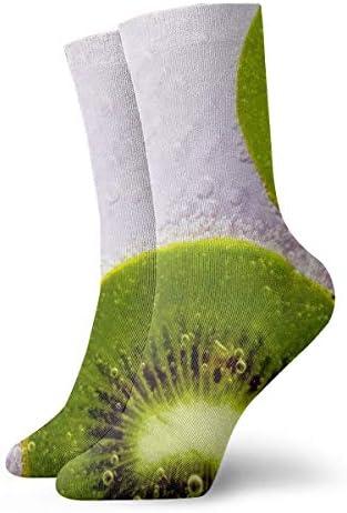 BJAMAJ Calcetines Unisex Kiwi Drops Dews Interesantes Calcetines de poliéster para Adultos Calcetines de algodón: Amazon.es: Hogar