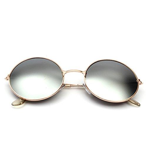 UV400 con Montura gafas metal estilo Unisex sol de retro plateado para de en protección OUTERDO qPwqOcgrZ