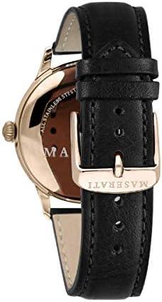 Orologio da uomo, Collezione RICORDO, in acciaio, PVD oro rosa, cuoio - R8851125005