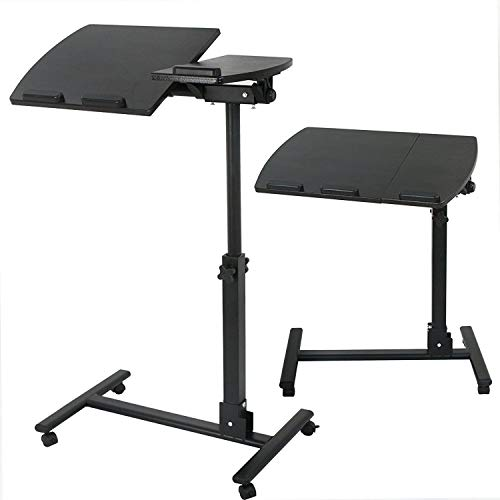 YOLO Stores - Overbed Laptop Desk Table Medical Adjustable Over Sofa/Bed/Couch Notebook Stand Swivel Trolley Sturdy (Desk Computer Stores)