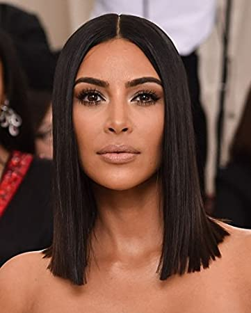 Joywigs KimKardashian Long Bob Wig Human Hair Define Deep Middle/Left/Right  Parting Invisible Lace Front Wig 150% Density Same Length Blunt Cut Bob