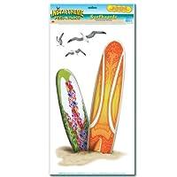 Selbstklebende Wanddeko Surfboards und Möwen 50 cm