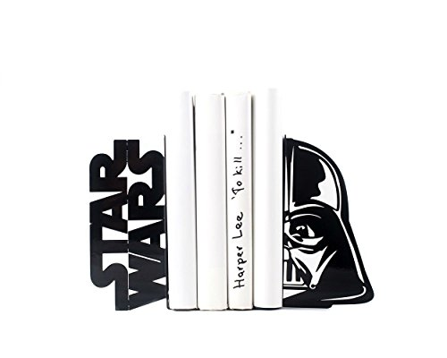 Decorative bookends Darth Vader Star Wars. Cool and functional book holders to organize your Star Wars collections. Books or DVDs.