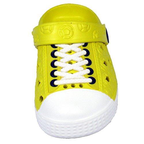 sleedy Kinder Clogs Turnschuh Gelb in Versch Größen Eva-Clog Unisex Kinder Sandalen Gelb