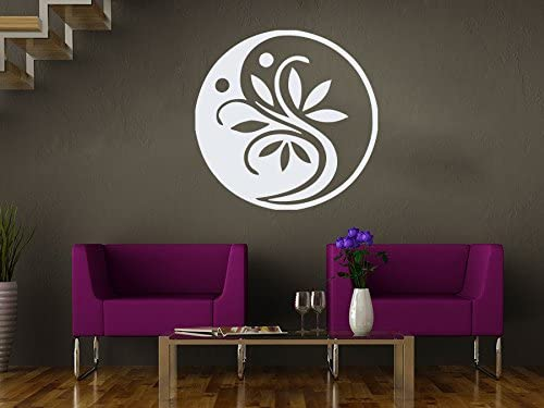 Sticker Mural Fleur Pour Salon Marocain Style Yoga Studio