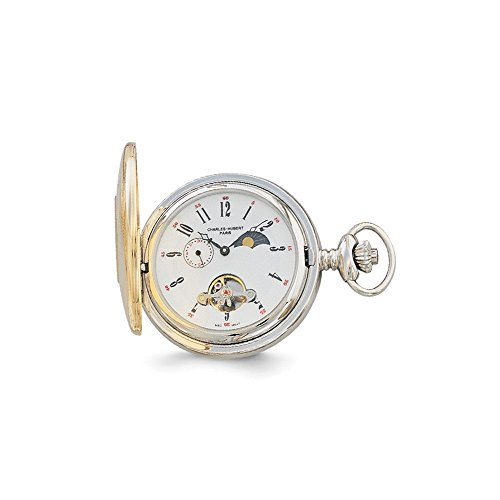 Best Designer Jewelry Charles Hubert IP-plated Off White Dial Pocket (Off White Dial Pocket Watch)