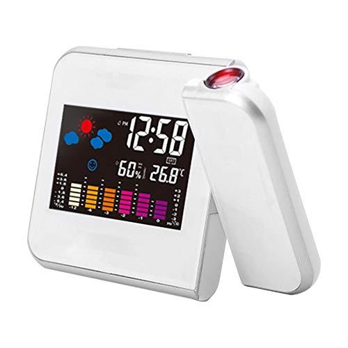 Reloj electrónico Digital de pronóstico del Tiempo Reloj con ...