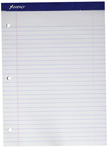 """Ampad Evidence Dual-Pad Notepad 8-1/2"""" x 11-3/4"""", Legal Rule"""