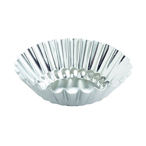 Mrs. Anderson's Baking Tartlet Molds, Fluted Round, Set of 4, 3 x .39-Inches (Tin Fluted Tartlet)