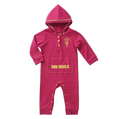 (Arizona State Sun Devils Baby and Toddler Hooded Romper (18-24) Cherry )