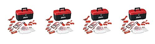 Master Lock Lockout Tagout Kit, Electrical Lockout Kit with Thermoplastic Safety Padlocks, 145E410KA (4-(Pack)) by Master Lock