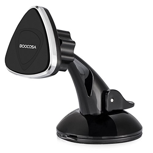 Suction Cup Window Holder (Magnetic Phone Mount, Car Dash Windshield Suction Cup Holder Cradle for iPhone X/ 8/8s/7/7P/6P/6, 360° Rotatable for Samsung Galaxy Sony Huawei LG HTC up to 3.5-6 inches Smartphones, GPS and Tablets)