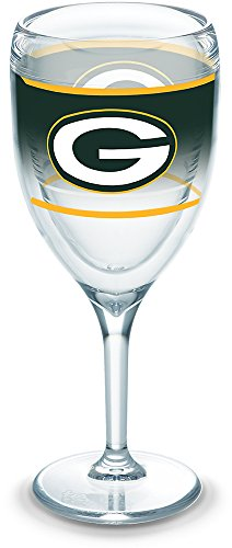 - Tervis 1292799 NFL Green Bay Packers Original Wine Glasses, 9 oz, Clear