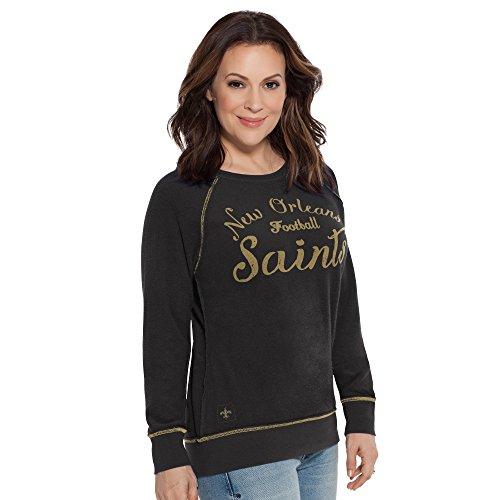 NFL Cincinnati Bengals Women's Dugout Reversible Pullover Sweatshirt, Large, Black