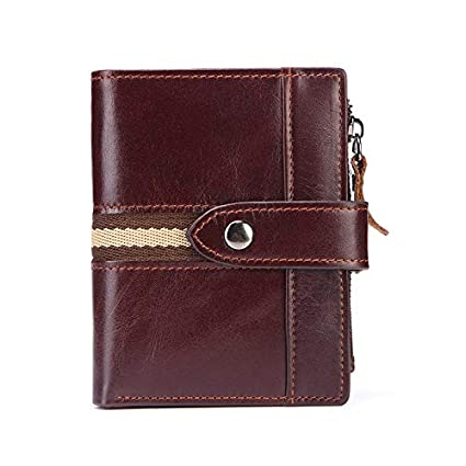 3a7786607d1a Amazon.com: HeroStore Minimalist Cool Wallets for Men Women Oil Wax ...