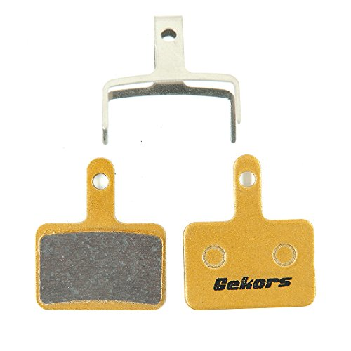 Brake Pads Service (Gekors Metallic Bicycle Disc Brake Pads for Shimano/Tektro/TRP, 1 Pair with a Spring, Golden)