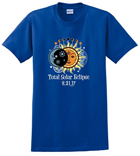 Solar Eclipse Glasses Kids Total Solar Eclipse 2017 Solar Eclipse Viewing T-Shirt Medium Royal
