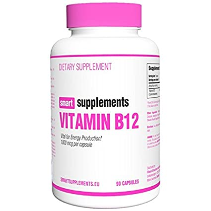Smart Supplements Vitamina B12 Suplemento - 90 Cápsulas