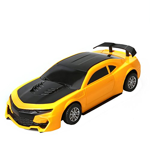 Soft Soles Race Car - Black and Yellow Radio Remote Controlled Car RC Vehicle Sports Car Drifting Race Car for Kids