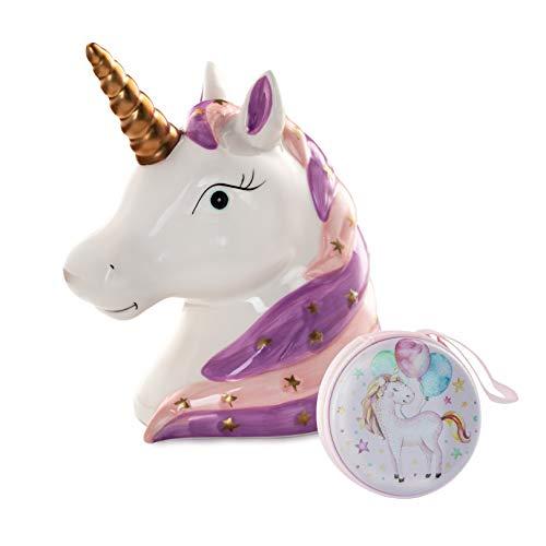 (Concepts in Time D5893PU Unicorn Head Ceramic Money Bank)